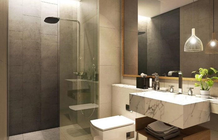 bathroom condo grand marina thailand