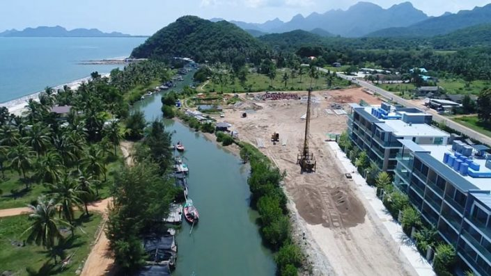 construction grand marina pranburi